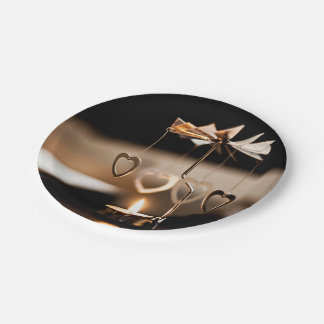Candle Themed, A Candle Stand With Few Metal Heart Paper Plate