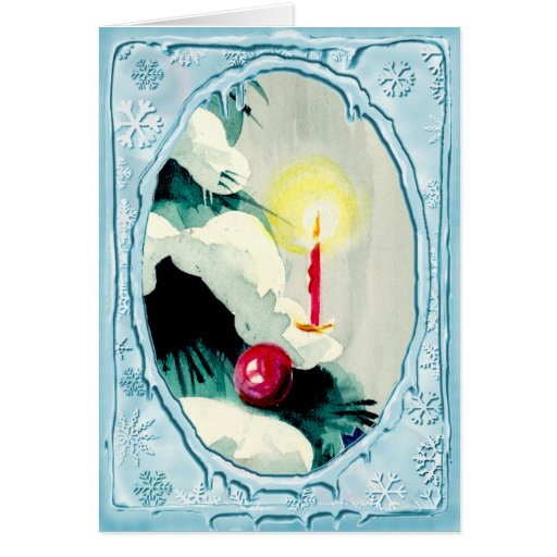 CANDLE TREE & ORNAMENT by SHARON SHARPE Card