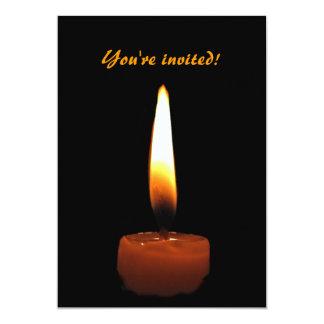 Candle Wedding Anniversary 5x7 Paper Invitation Card