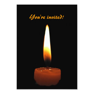 "Candle Wedding Anniversary 5"" X 7"" Invitation Card"