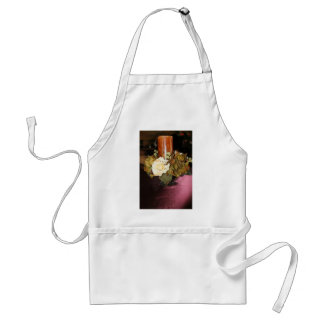 candle with flowers adult apron