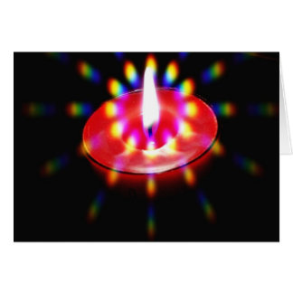 Candle With Special Lights Greeting Card