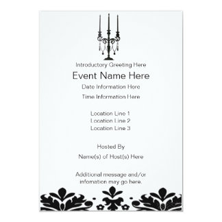 Candleabra Party/Event Invitations