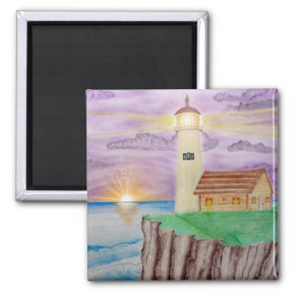 Candleight of the Sea 2 Inch Square Magnet
