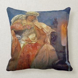 Candlelight 1911 throw pillow