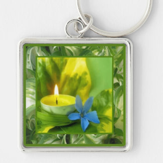Candlelight and Flowers Keychain