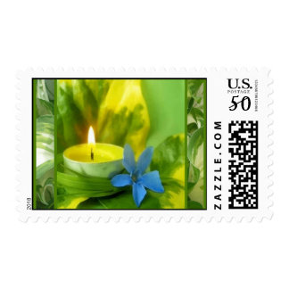 Candlelight and Flowers Postage Stamps