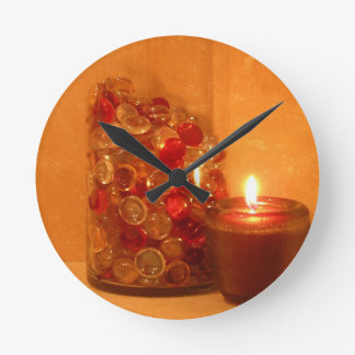 Candlelight and Marbles Wall Clock