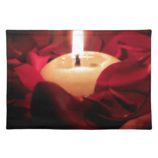 Candlelight and Roses Cloth Placemat