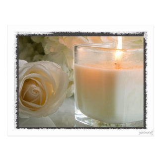 Candlelight and Roses Postcard