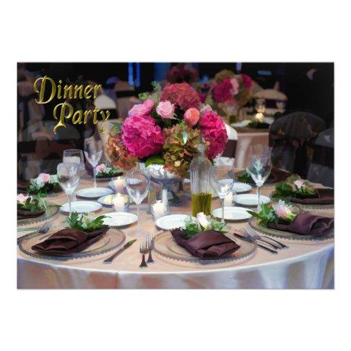 Candlelight dinner flower arrangement party 5x7 paper for Flower arrangements for parties