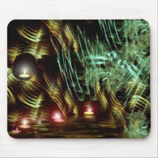 Candlelight Fractal Fractal Forest Mousepad