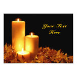 Candlelight in Soft Pastels Customizable Custom Invite