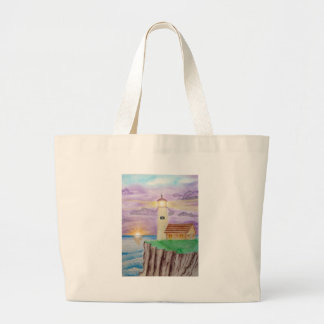 Candlelight of the Sea Large Tote Bag