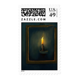 Candlelight painting stamp