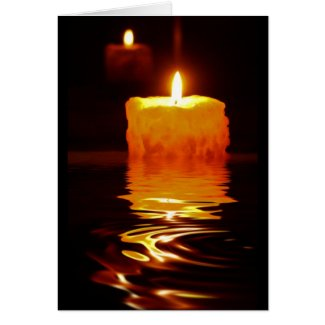 Candlelight Reflections Greeting Card