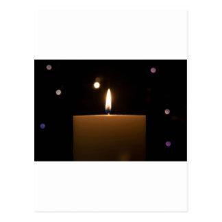Candlelight Romance Love Destiny Glow Postcard