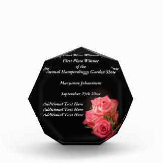 Candlelight Roses Acrylic Award