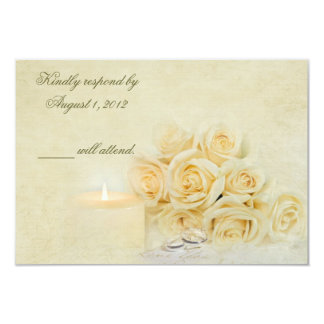 Candlelight RSVP 3.5x5 Paper Invitation Card