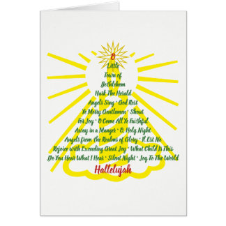 Candlelight Song List - greeting inside Card