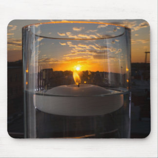 Candlelight Sunset Mouse Pad