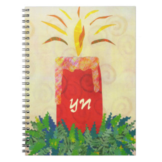 Candlelight's Gleaming monogram Spiral Notebook