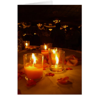Candlelit reception card