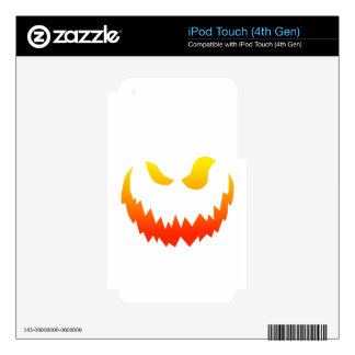 Candlelit Smiling Halloween Jack-o-lantern Decals For iPod Touch 4G