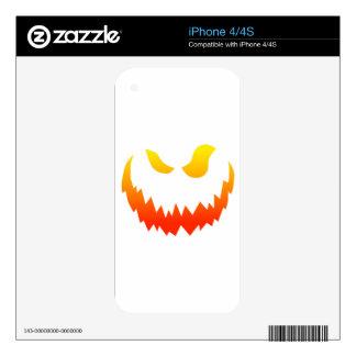 Candlelit Smiling Halloween Jack-o-lantern iPhone 4S Decal
