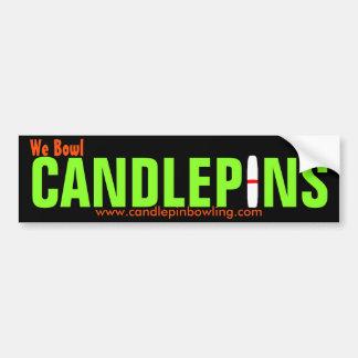 Candlepin Bumper Sticker Car Bumper Sticker