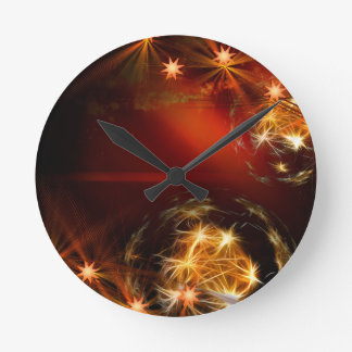 candles-386045 COZY ROMANTIC DIGITAL ART candles c Round Wall Clocks