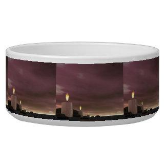 Candles - 3D render Bowl