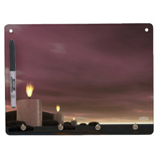 Candles - 3D render Dry Erase Board With Keychain Holder