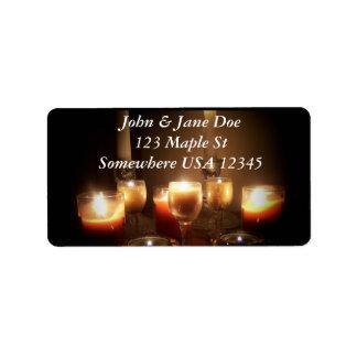 Candles Address Label