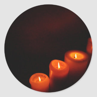 Candles Aglow Classic Round Sticker
