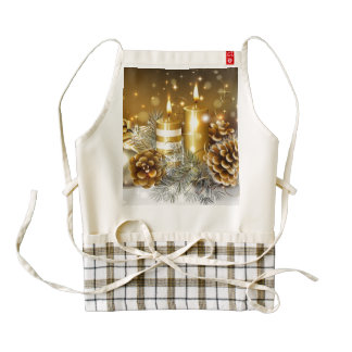 Candles and Cones Zazzle HEART Apron