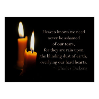 Candles and Dickens quote Poster
