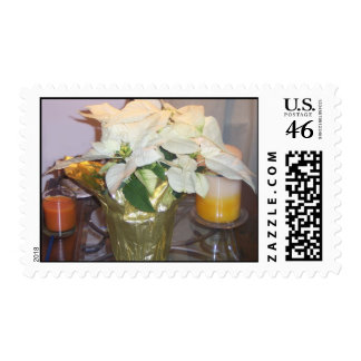 Candles and Flower Stamp