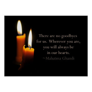 Candles and Ghandi quote Poster