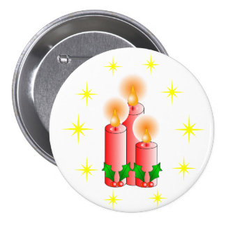 Candles and Holly Pins
