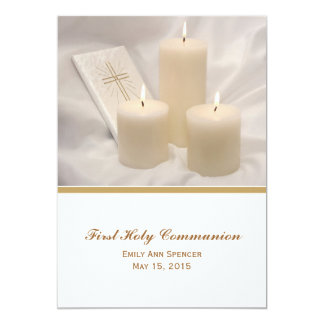Candles and Prayer Book First Holy Communion #2 Card