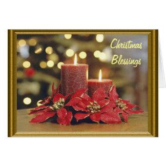 Candles at Christmas Card