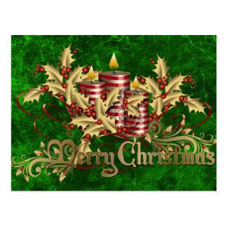 Candles at Christmas Postcard