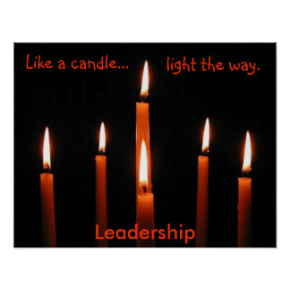 Candles by tdgallery - leadership poster