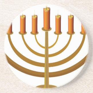 candles candleholder candlestick hanukkah jewish coaster