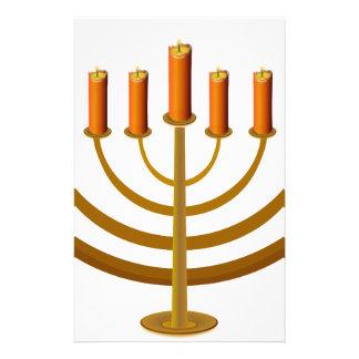 candles candleholder candlestick hanukkah jewish stationery design