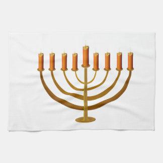 candles candleholder candlestick hanukkah jewish towel