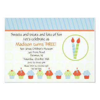 Candles & Cupcakes Birthday Invitation
