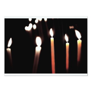 candles doubles color 5x7 paper invitation card
