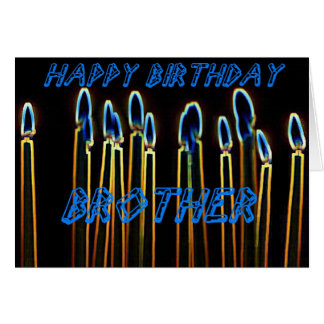 Candles Happy Birthday Brother Card